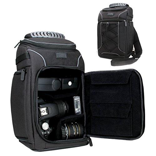 USA Gear Portable DSLR Camera Sling Bag Rain Cover Customiza