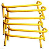 6'' INCH STEP HURDLE (LOT OF 6) MINI BANANA SPEED AGILITY PE TRACK RUNNING JUMP