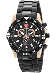 Swiss Precimax Mens SP13108 Falcon Pro Analog Display Swiss Quartz Black Watch