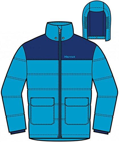 Marmot Boys Rail Jacket, Bahama Blue/Arctic Navy, X-Small