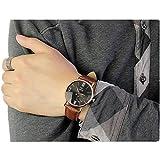 YANG-YI Luxury Fashion Leather Glass Quartz Analog Noctilucent Wrist Watches Men
