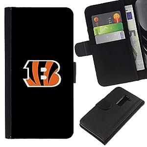Tigres B Equipo deportivo - la tarjeta de Crédito Slots PU Funda de cuero Monedero caso cubierta de piel Para LG G2 D800