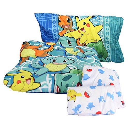 Pokémon First Starters Twin Bed in a Bag Set, 64'' x 86''