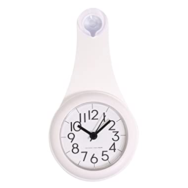 Bathroom Wall Clock, XSHION Shower Clock Wet-proof/ Small Wall Clocks Battery Operated Silent Non Ticking Decorative Living Room Modern