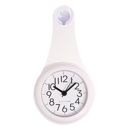 BOROK baduhr ducha Reloj Reloj de cocina – Reloj de pared con ventosa, impermeable,
