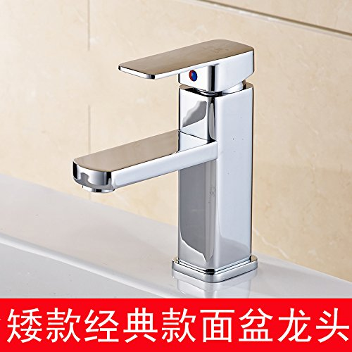 Classic Short, Basin Mixer Hlluya Professional Sink Mixer Tap Kitchen Faucet All copper pull-down basin faucet and cold water pull on the high basin shampoo basin faucet, (low) basin mixer
