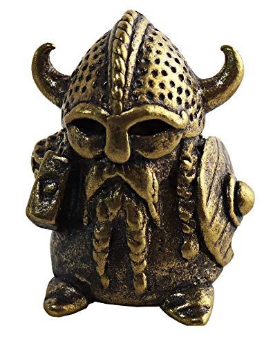 Collectible Thimble Bronze Viking - Souvenir Thimbles in a Burlap Bag