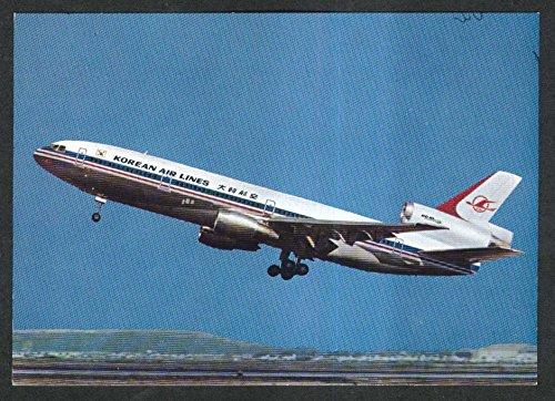 korean-air-lines-kal-dc-10-series-30-intercontinental-jetliner-postcard-1970s