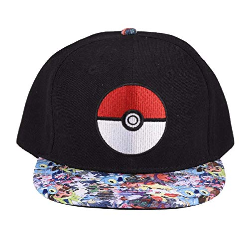 YEAM Kids Hat Youth Snapback Hat Boy Girl,2-12 Years Age Black (Pokemon Shoes Boys)