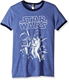 Star Wars Men's Official 'Poster' Graphic Tee, Heather Blue Navy, Medium