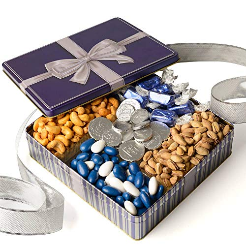 Gourmet Gift Basket - Chocolate and Nuts Gift Box Food Gifts Prime -Easter Gift Box, Assortment Tray - Birthday, Sympathy, Men, Woman & Families - Bonnie & Pop