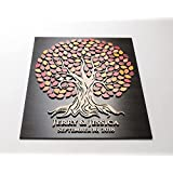 MarthaFox Rustic Wedding Guest Book Alternative Wedding Guestbook Ideas 3D Custom Wood Guest Book Sign Frame Guestbook Wedding Album Autumn Colors N672969
