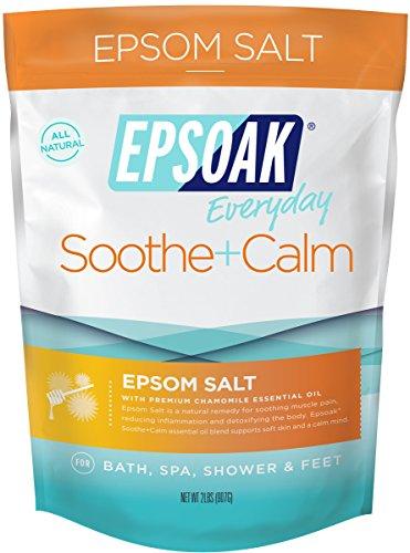 Epsoak Epsom Salt | 2 lb. Soothe + Calm - For Bath, Spa, Shower & Feet (Everyday Epsom Salts)