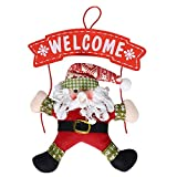 QBSM Christmas Wreath Christmas Snowman Party Door Decoration Christmas Door Hanging Home Shop Decoration (Santa Claus) Review