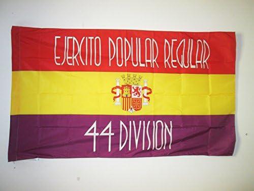 AZ FLAG Bandera del 44 Division EJÉRCITO DE LA REPÚBLICA ESPAÑOLA 90x60cm para Palo - Bandera ESPAÑOLA Republicana 60 x 90 cm: Amazon.es: Jardín
