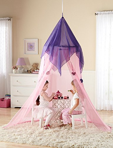 Discovery Kids- Fairy Tale Princess Canopy Pink by (Fairy Tale Toddler Bed)