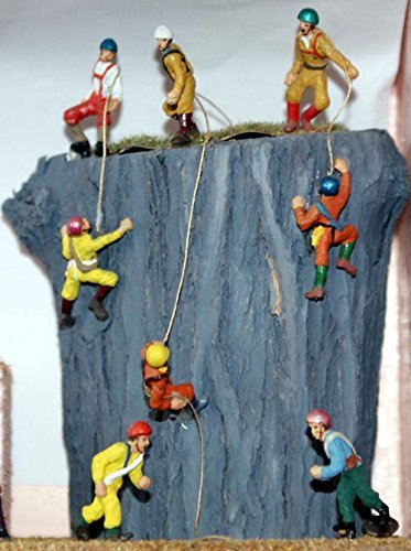 8 Assorted Rock Climbers OO Scale 1:76 UNPAINTED Model Kit. by Langley (Rock Climber Scales)