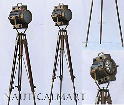 - Nautical Hollywood Spot Light Searchlight Studio Floor Lamp With Tripod Stand by NauticalMart