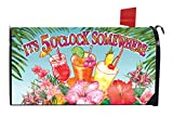 Briarwood Lane It's 5 O'clock Somewhere Summer Magnetic Mailbox Cover Cocktails Drinks Tropical