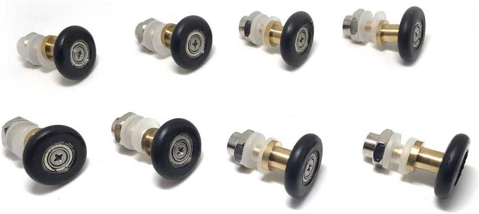 poulies Lot de 8 accessoires pour porte douche : roues 25 mm de... guides