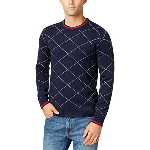 Navy Argyle Sweater - 2