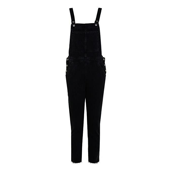COLORFUL Damen Jumpsuit Overall Onesie,Damen Schwarz Overall Hosen Casual  Jumpsuit Jeans Taschen Hosen ( e1b5680ba6