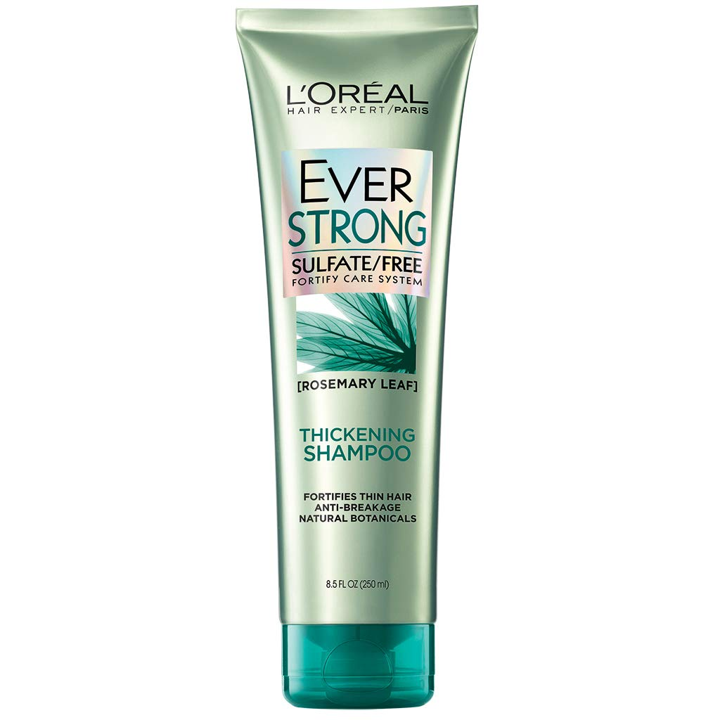 L'Oreal Paris Hair Expertise EverStrong Thickening Shampoo, Rosemary, 8.5 Fl Oz
