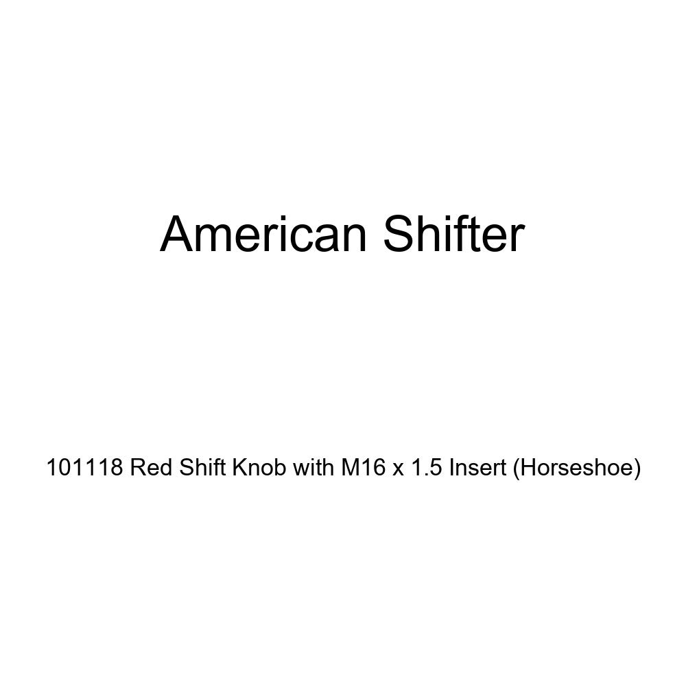 Horseshoe American Shifter 101118 Red Shift Knob with M16 x 1.5 Insert