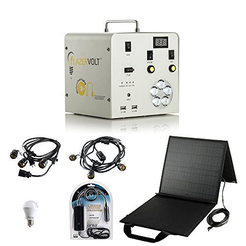 Lazer Volt Solar Bundle- Power Box, Solar, Lap Chg, 6 12V Bulbs, 2 Str Lights, 6 (Solar Str Light)