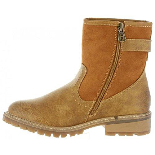 Refresh Femme Bottines Camel pour 63871 C 4ZF4Hqw