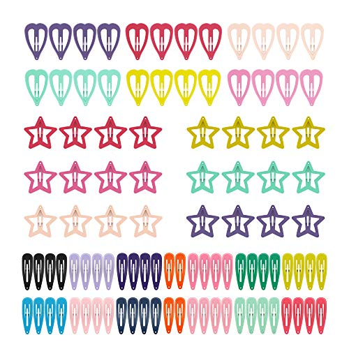 (Snap Hair Clips, ECADY Non-slip Hair Barrettes for Girls, Women, Toddlers, Kids)