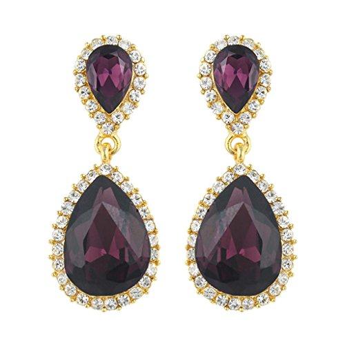 Purple Drop Earrings: Amazon.com