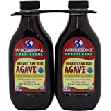 Wholesome Sweeteners Organic raw blue agave, 36 OZ Bottles (Pack of 2)