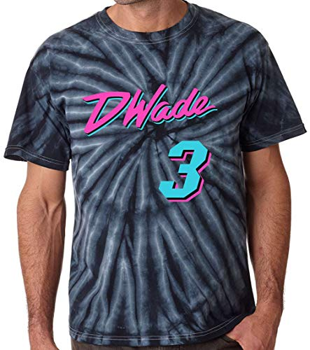 Jersey Wade D (KINGSTON SHIRTS TIE-DYE Black Miami Wade Vice City T-Shirt Adult)