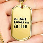 Zuchon - 18k Gold Finished Luxury Dog Tag Necklace Lover Owner Mom Birthday Gifts Jewelry 7