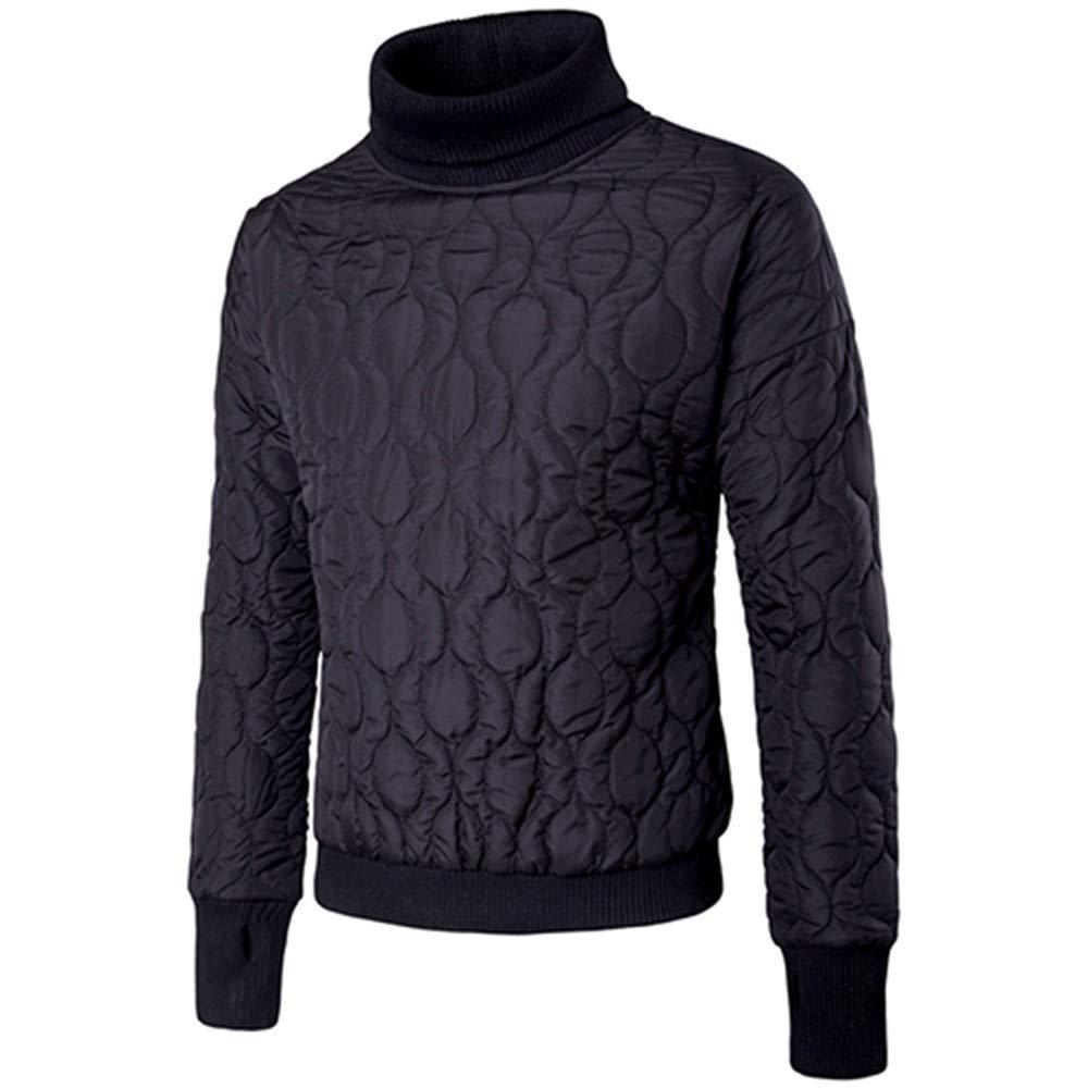 Man Coat, Ronamick Men Winter Warm Plaid Jacquard Long Sleeve Turtleneck Solid Thickening Slim Fit Coat Shirt Top Blouse Outerwear 🌍 International standard size