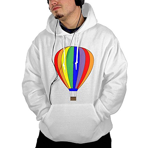 Wipb Yiyn Rainbow Hot Air Balloon Pullover Sweatshirtwith Pocket For Women Hoodie dowdy (Bow Series Great White Saltwater)