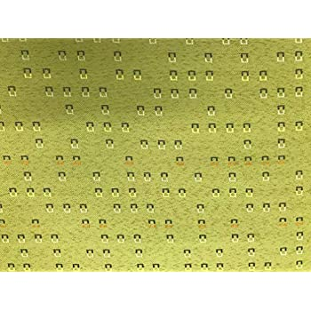 Image of Fabric Upholstery Drapery Bedding Small Geometric Design on Green 30 Yards Bolt/roll (American Drapery Shop) Home and Kitchen