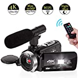 4K Camcorder WiFi with Microphone