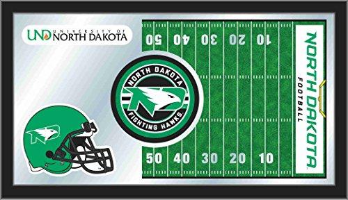 Dakota 26 Inch Bar Stool - Holland Bar Stool Co. North Dakota Fighting Hawks HBS Football Framed Hang Glass Wall Mirror (26