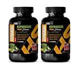 Brain Memory Focus Supplements - Asparagus Young Shoots 4:1 Extract 600 MG - antioxidant Weight Loss - 2 Bottles 200 Capsules