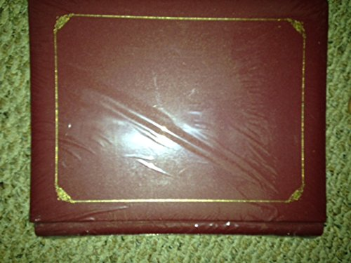 Creative Memories 8 1/2 X 11 Red Mahogany Album with 15 White Pages Tribute