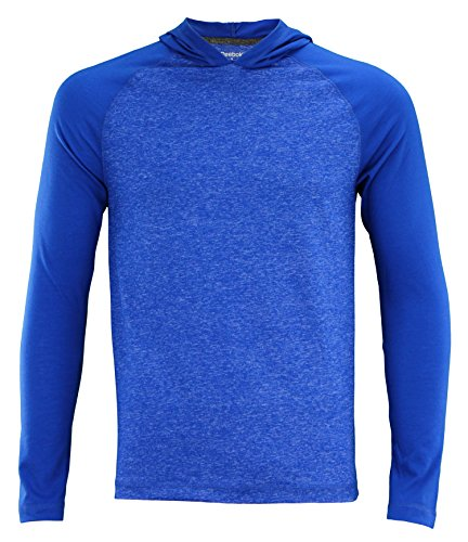 (Reebok Men's Speedwick Performance Long Sleeve Hooded Tee,Royal Blue Heather XX-Large)