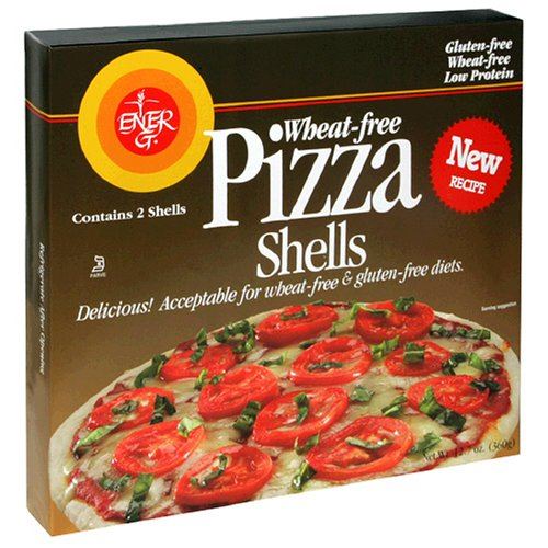 Ener-G Foods Rice Pizza Shells, 10 inches, 12.7-Ounce Boxes (Pack of 5) (Pizza Rice White)