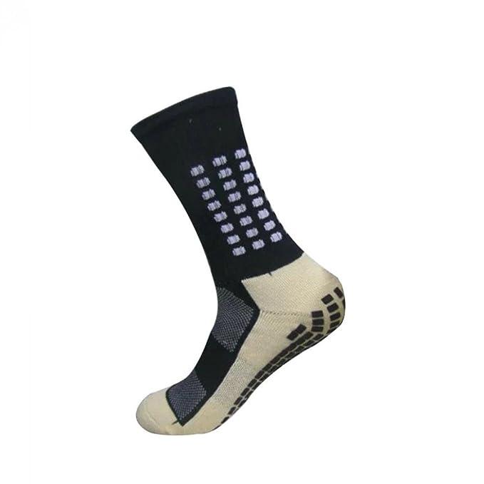 WalshK Premium Trusox Tocksox estilo fútbol fútbol calcetines deportivos antideslizante (Azul)