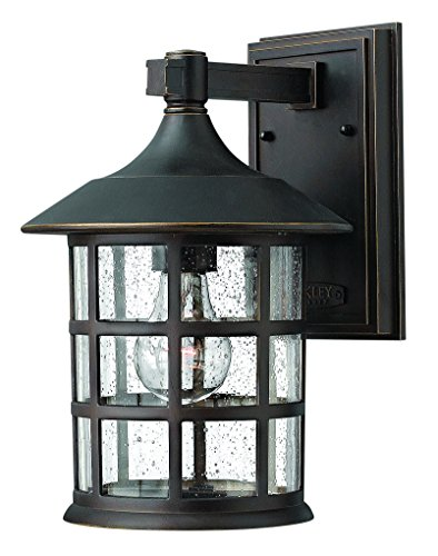 Hinkley 1804OZ Traditional One Light Wall Mount from Freeport collection in Bronze/Darkfinish, (Hinkley Mount Outdoor)