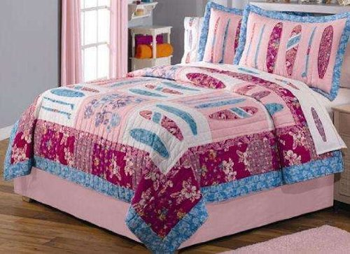 - Surf Chick Full / Queen Quilt with 2 Shams