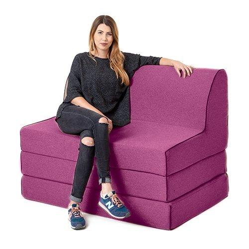 Distel Wolle Effekt Olivia Schaum Doppel Ausklappbar Sofabett Z-bett Lounger