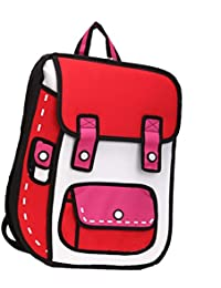Unisex Adult's 3D Jump Style 2D Drawing From Cartoon Comic Backpack School Shoulder Bag