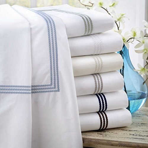 (Windsor White Twin Duvet Cover with Sage Embroidery)